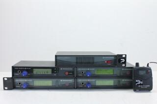 SET 1x AC2 - 4x EW300 IEM G2 Trasmitter - 4x EW300 IEM G2 Beltpack PUR RK21-3392 N