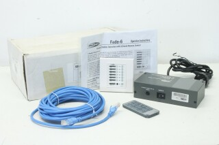 Fade-6 - Wall mounted 6 Channel DMX Controller with IR Remote Control BS L-12436-bv