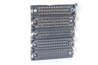 Set Of 5 Din Plugs EV-E5-4804 NEW