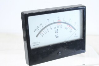 Siemens Vintage VU meter - Type: BV25/8A4 - 3,5 mA DB and % (No.1) KAY B6-13341-BV