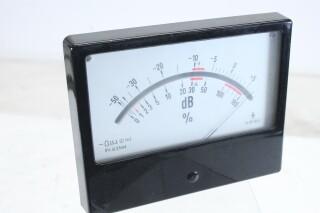 Siemens Vintage VU meter - Type: BV25/8A5 - 3,5 mA DB and % (No.1) KAY B6-13340-BV