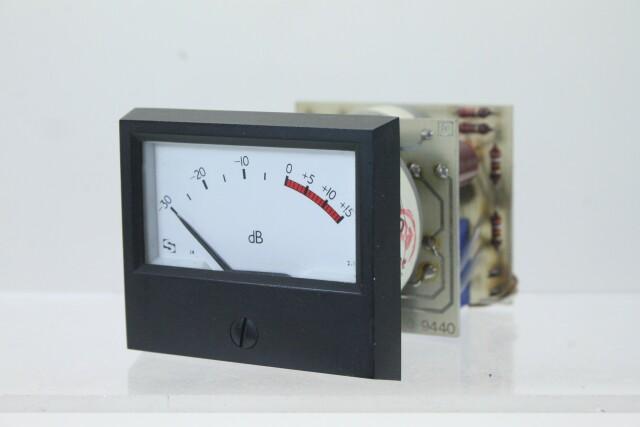 SIFAM M 940-1 dB VU Meter with NTP M-900 Logarithmic Amplifier (No.3) KAY B-13-13959-bv