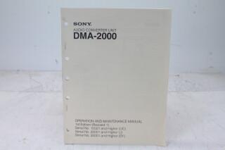Audio Converter Unit DMA-2000 Manual EV-F-4830 NEW