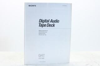 Digital Audio Tape Deck Instruction Manual Multilingual EV-F-5343 NEW