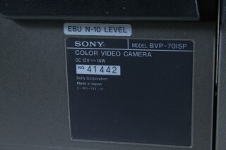 BVP-70ISP - Color Video Camera Set - Incl, Fujinon Lens and Flightcase BVH2 naast-T-12074-bv 6