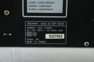 CDP-XE200 Compact Disk Player BS N-10810-z 9