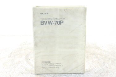 Video Cassette Recorder BVW-70P Maintenance Manual EV-F-6397 NEW