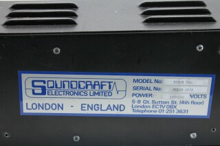 Soundcraft PSU Series 400B/200 for consoles with self built volt meter P-9947-z 6
