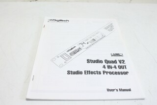 Studio Quad V2 4 in-4 out fx processor Users manual VLE-9332-x