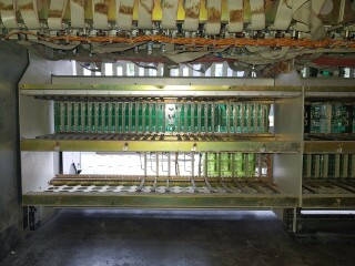 990 frame for 48 channel console - All wired up but no modules VL-9429-x 9