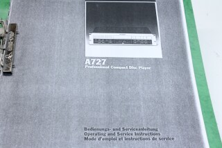 A727 Operating And Service Instructions Manual F-10766-z