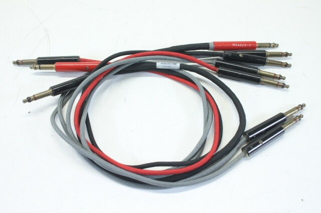 Bantam TT 6.3mm Patchcables with Switchcraft M642/2-2 Plugs - Lot of 5 KM-1-12471-vof