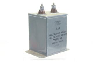 NEW OLD STOCK 4 MFD WKG 350 VDC at 60°C - 250 VDC at 71°C Type 62 HEN-ZV-7-BOX-2-5328 2