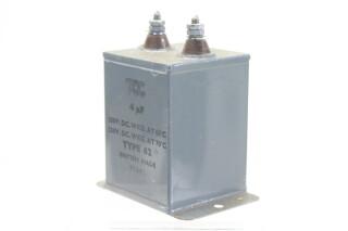 NEW OLD STOCK 4 MFD WKG 350 VDC at 60°C - 250 VDC at 71°C Type 62 HEN-ZV-7-BOX-2-5328 3