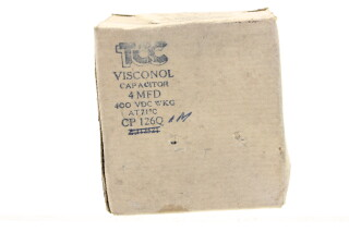 New old stock Visconol Capacitor 4 MFD - 400 VDC WKG - CP126Q I.M. (no.3) HEN-FS31-4929 NEW
