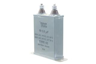 Type 62 0,25 MFD, 350VDC at 60°C - 250VDC at 70°C HEN-ZV-7-BOX-5-5333 3