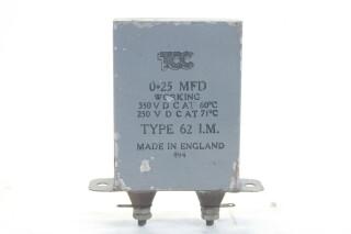 Type 62 I.M. 0,25 MFD, 350VDC at 60°C - 250VDC at 71°C HEN-ZV-7-BOX-4-5329