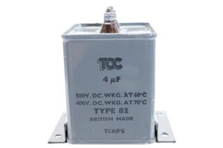 Type 82 4 MFD - 500 VDC WKG / 400 VDC WKG - TCB/PE HEN-FS31-4939