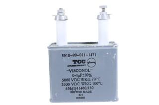 Visconol Capacitor 0,1µF ± 20% - 5000 VDC WKG HEN-FS31-4955 NEW