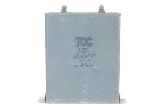 Visconol Capacitor 4 MFDType 111 HEN-ZV-7-BOX-1-5316