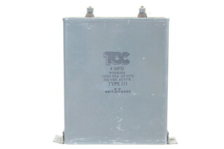 Visconol Capacitor 4 MFDType 111 HEN-ZV-7-BOX-1-5316 1