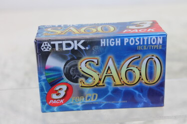 SA60 Type II cassettes 3-pack NEW/SEALED TCE-ZV14-MAND-6554 NEW