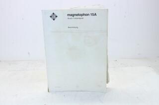 Magnetophon 15A Tape Recorder Manual EV-F-4826 NEW