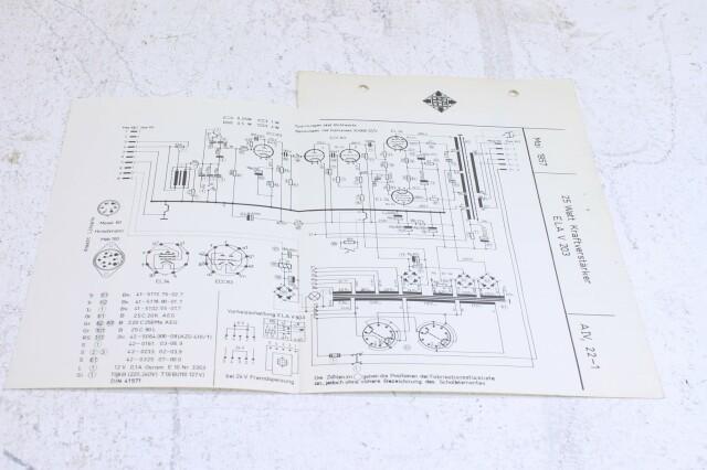 Original Ela V203 Kraftversarker Schematics F-6348-x