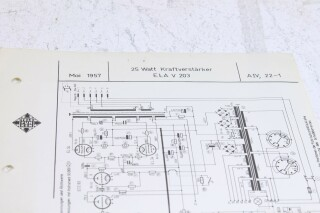 Original Ela V203 Kraftversarker Schematics F-6348-x 2
