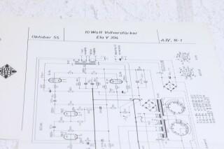 Original Ela V305 10W VollVerstarker Schematics F-6350-x 2