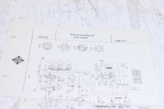 Original Ela V504 Reisemischpult Schematics F-6351-x 2