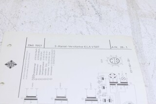 Original Ela V507 3 kanal verstarker Schematics F-6352-x 2