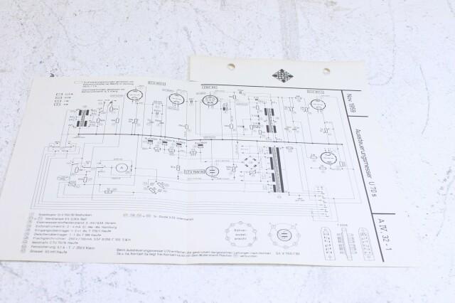 Original U 70s Aussteuerungsmesser Schematics F-6353-x