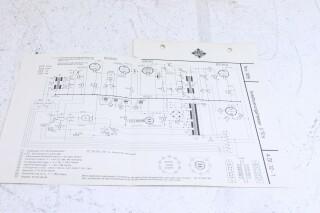 Original U 70s Aussteuerungsmesser Schematics F-6353-x 1