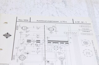 Original U 70s Aussteuerungsmesser Schematics F-6353-x 2