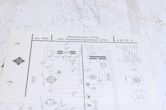 Original U 70sz Aussteuerungsmesser Schematics F-6354-x