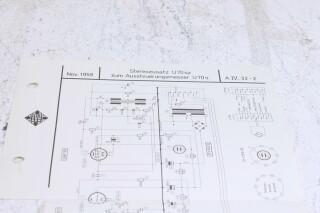 Original U 70sz Aussteuerungsmesser Schematics F-6354-x 1