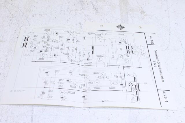 Original V72t Transistor Verstarker Schematics No.1 F-6355-x