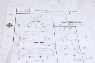 Original V72t Transistor Verstarker Schematics No.1 F-6355-x 2