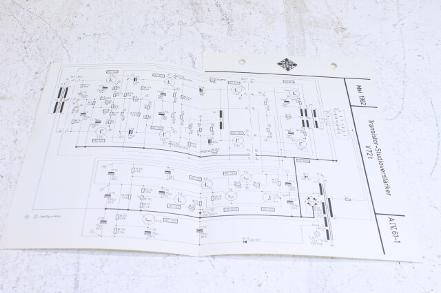 Original V72t Transistor Verstarker Schematics No.2 F-6355-x