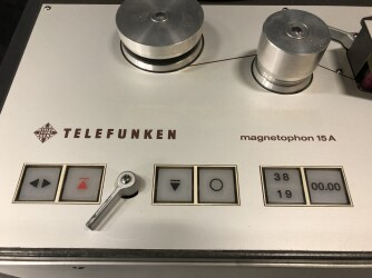 Stereo M15A 1/4 Inch Tape Recorder in Studer Trolley TCE-VL-6652 NEW 2