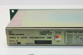 VP 702 Audio & Video Distribution Amplifier HER1 ORB1-13804-BV 4