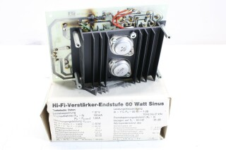 Hi-Fi Verstärker-Endstufe 60 Watt Sinus BVH2 A/B-12008-BV
