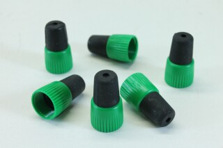 Lot of 6 Jack Sockets with Green Colored Boots A-9-8806-x 1