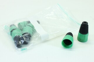 Lot of 7 XLR Sockets With Green colored Boots B-3-8613-x 1
