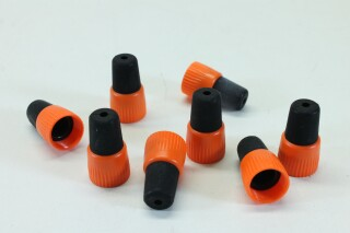 Lot of 8 Jack Sockets with Orange Colored Boots A-9-8805-x 1
