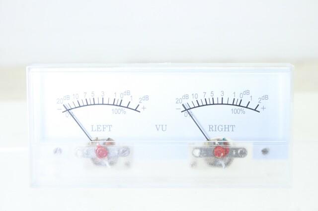 Stereo VU Meter NOS K-in doos-10909-z