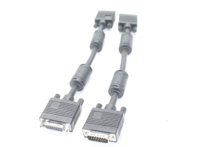 Two VGA To 15 Way D-Sub Cables JDH-C2-KM-1-5770
