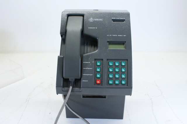 Vintage KPN telecom payphone for collectors with documentation JDH L-7702-x