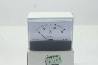 Volt VU Meter 0 to 15 V - New Old Stock KAY B-13-13890-bv 2